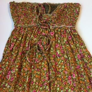 Free People floral print sundress that ties @ neck